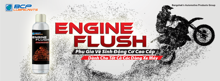 Phu gia lam sach dong co xe may engine flush